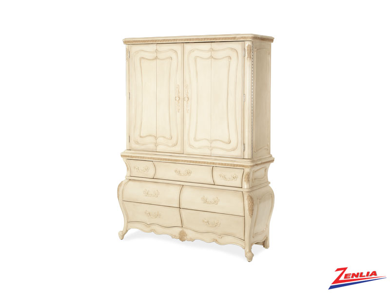 Lave Blanc Media Cabinet