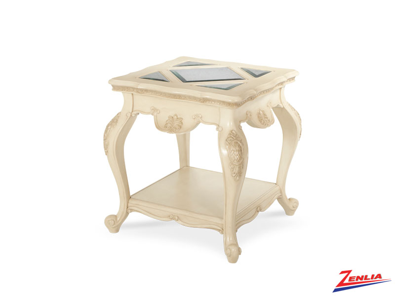 Lave Blanc End Table