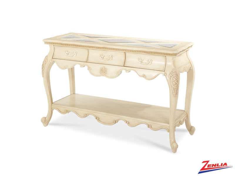 Lave Blanc Console Table