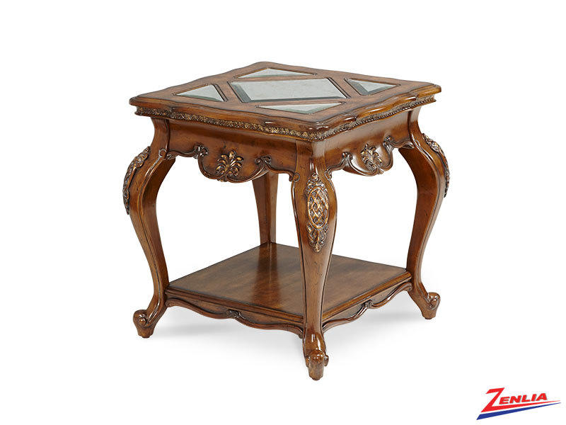 Lave Melan End Table