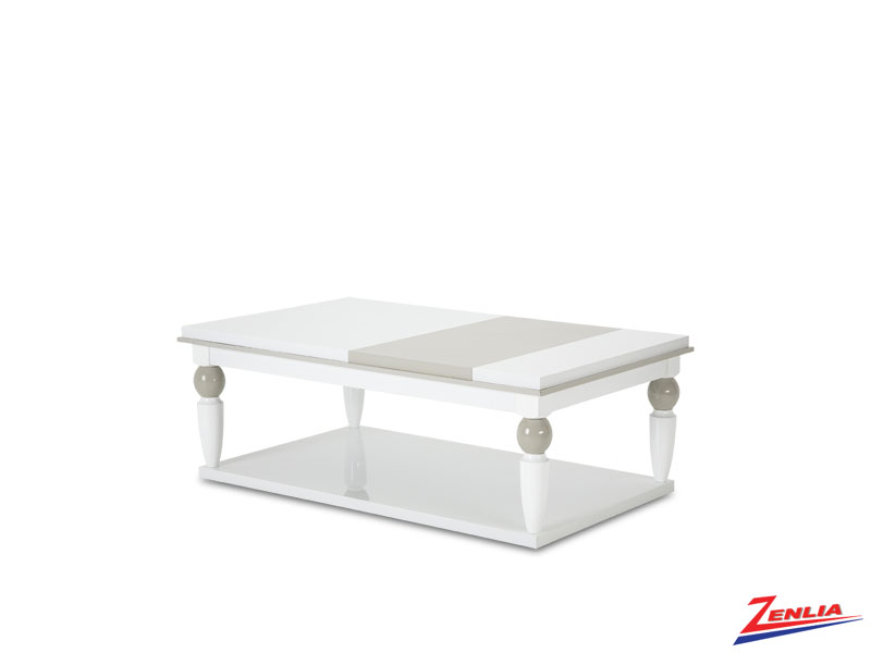 Sky White Cloud Cocktail Table