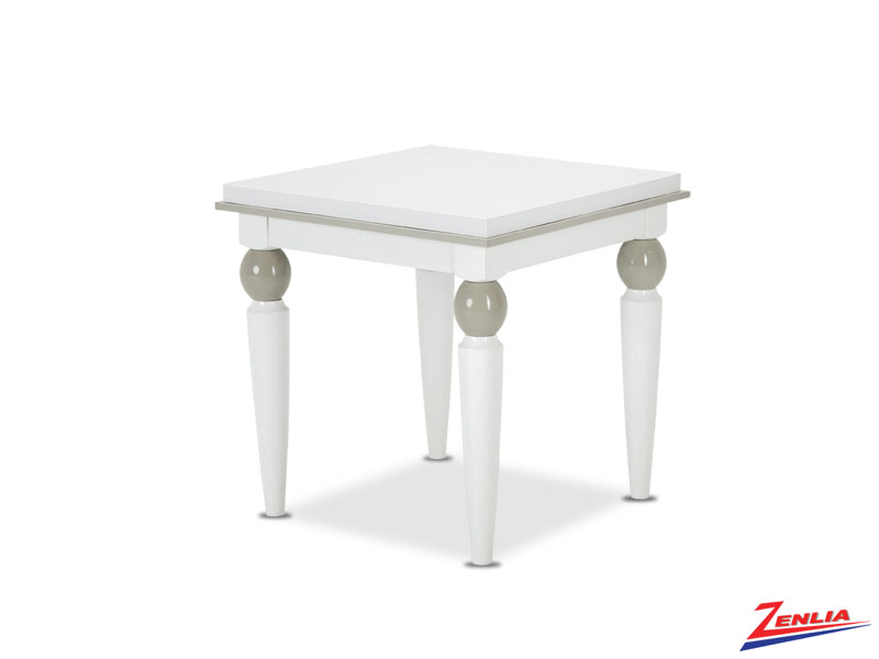 Sky White Cloud End Table