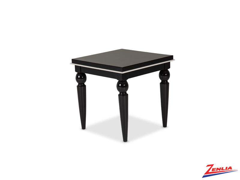 Sky Black Ice End Table
