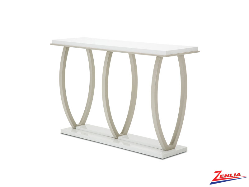 Sky White Cloud Console Table