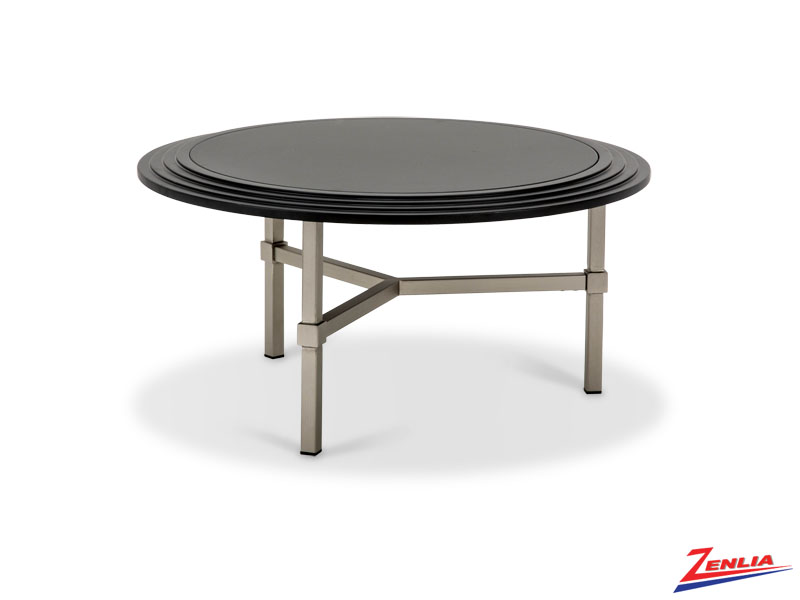 Vort Round Cocktail Table Black Top