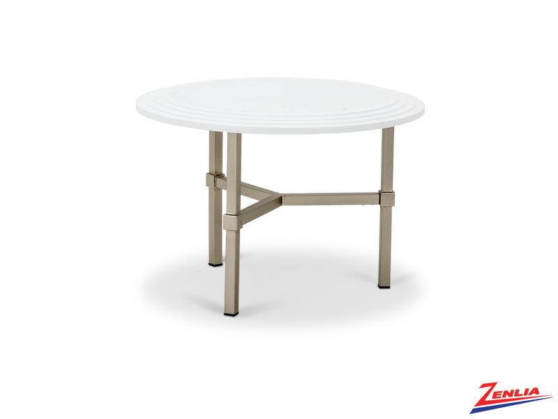 Vort Round Cocktail Table White Top