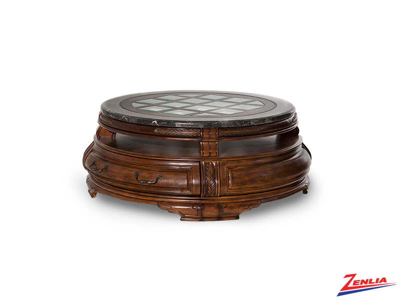 Tusc Melan Round Cocktail Table