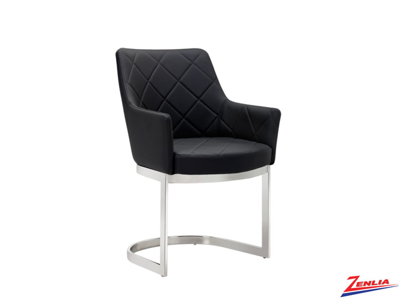 Chas Cantilever Black Dining Chair