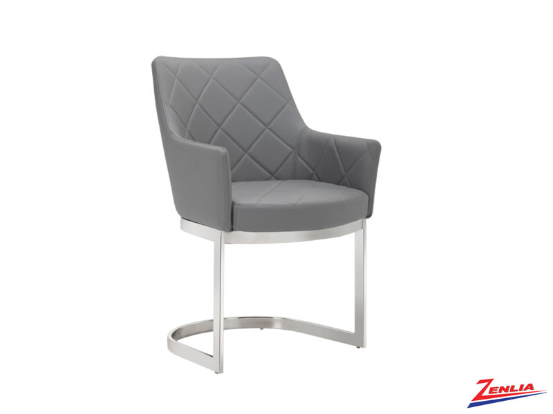 Chas Cantilever Grey Dining Chair