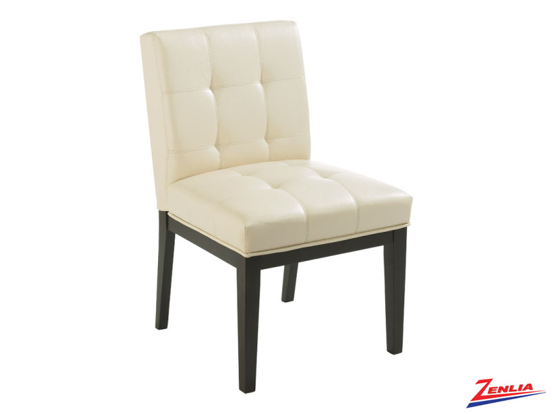 Felic Leather Cream Dining Chair