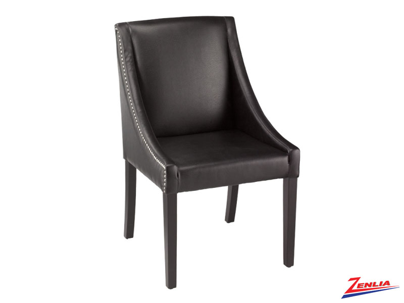Luci Black Leather Dining Chair