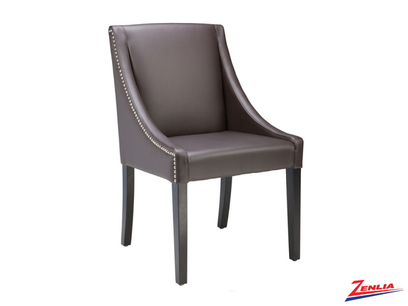 Luci Brown Leather Dining Chair