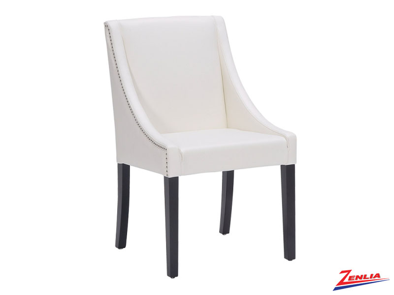 Luci Ivory Leather Dining Chair