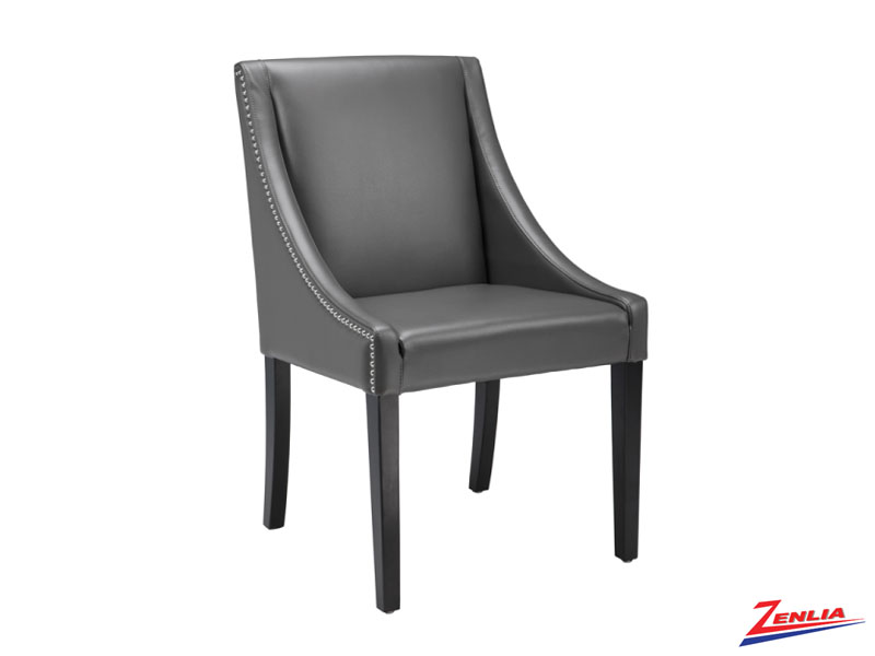 Luci Grey Leather Dining Chair