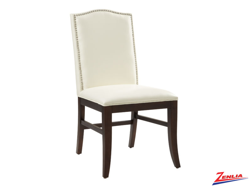 Mais Ivory Leather Dining Chair