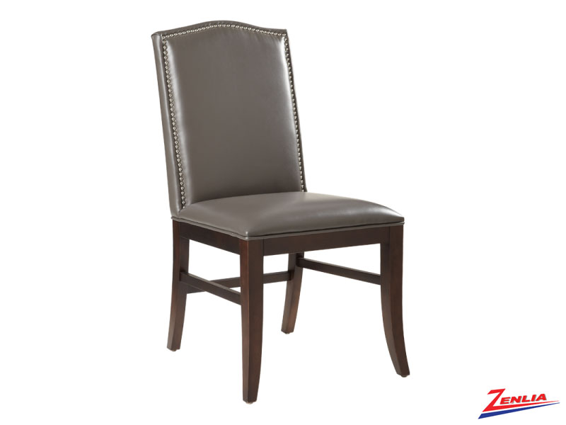 Mais Grey Leather Dining Chair