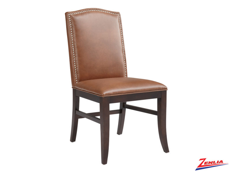 Mais Cognac Leather Dining Chair