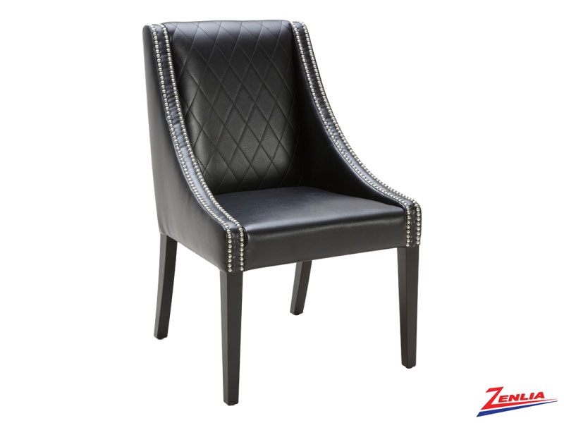 Malab Black Leather Dining Chair