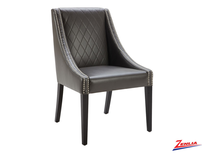 Malab Grey Leather Dining Chair
