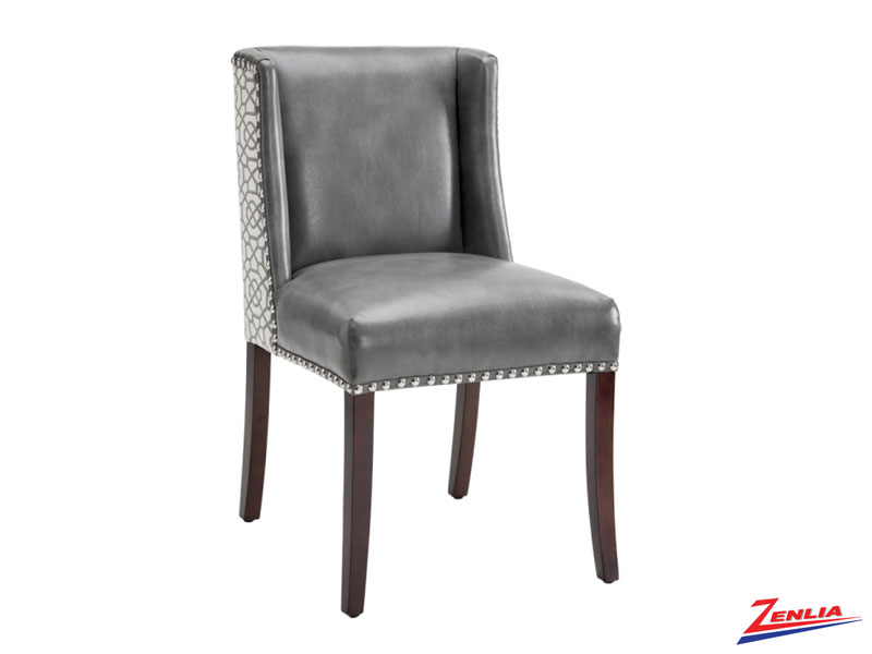 Marli Grey & Diamond Fabric Dining Chair