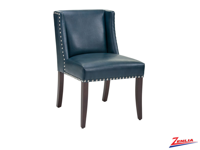 Marli Blue Leather Dining Chair