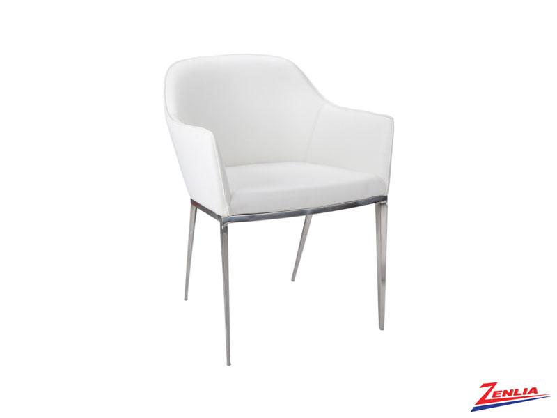 Stani White Armchair
