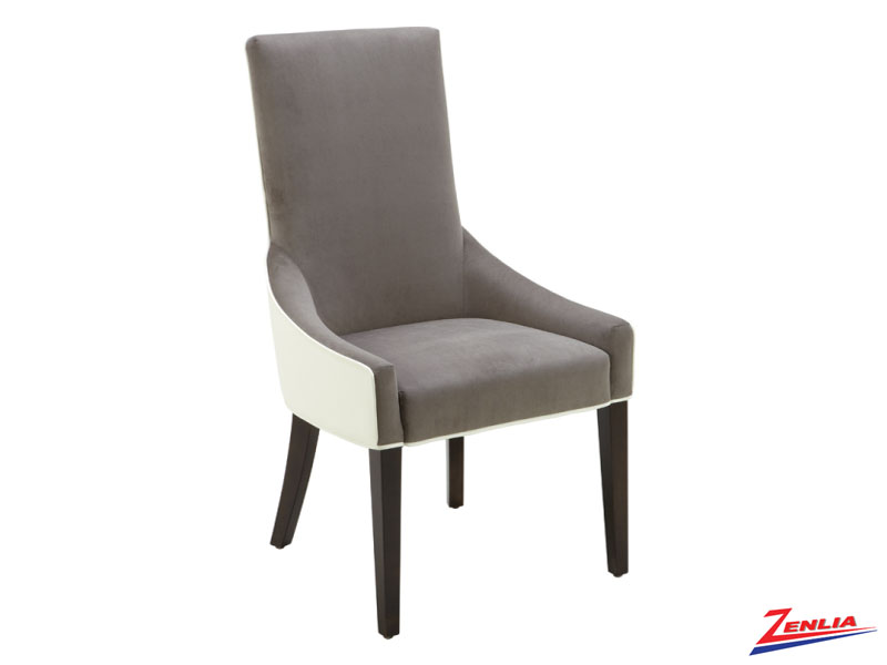 Vince Ivory And Grey Dining Chair
