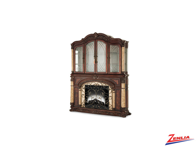 Victoria Fireplace With Curio Top