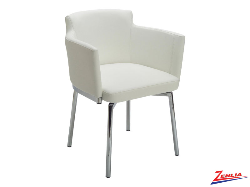 Garci White Swivel Chair