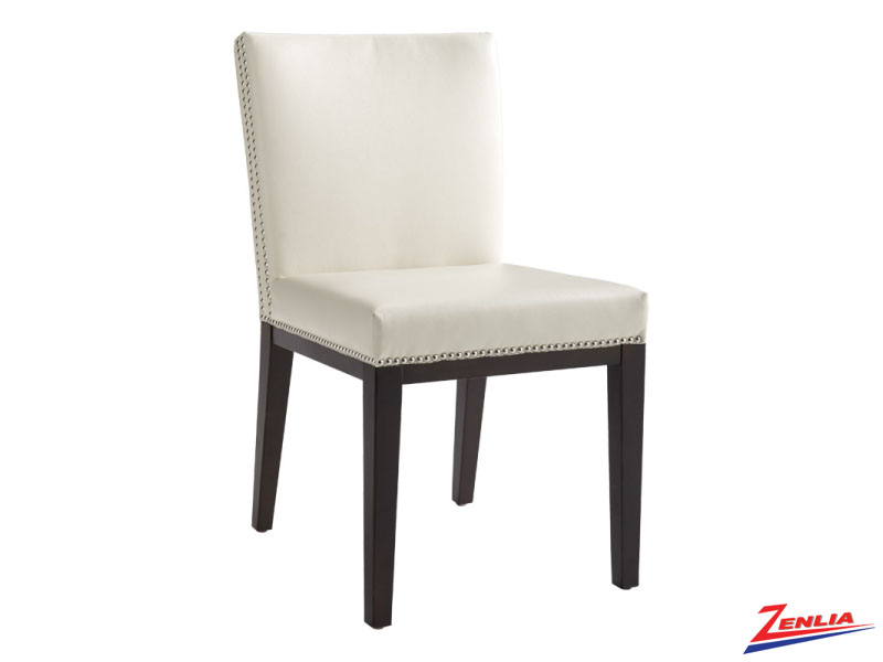 Vint Cream Leather Dining Chair