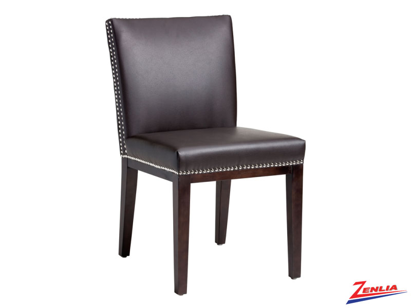 Vint Brown Leather Dining Chair