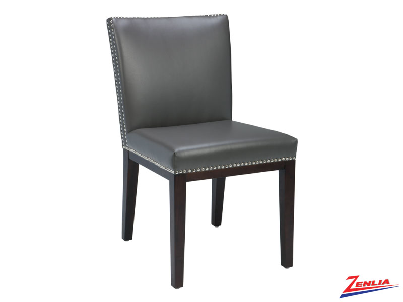 Vint Grey Leather Dining Chair