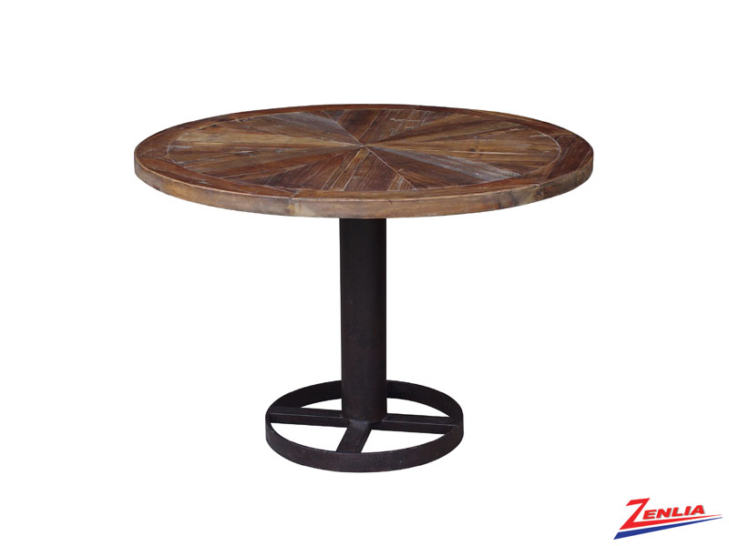Mari Reclaimed Wood Round Dining Table