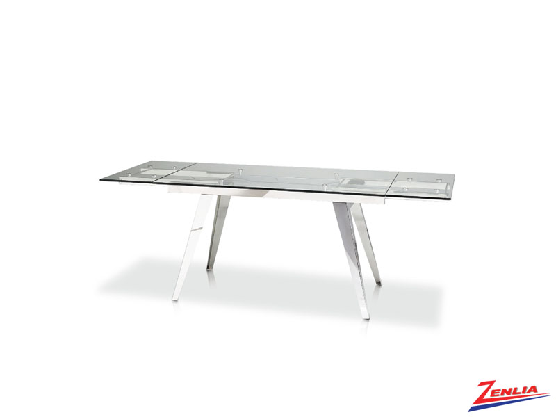 Shar Chrome Extension Dining Table