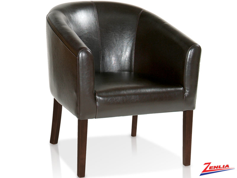 Holi Leather Transitional Tub Chair