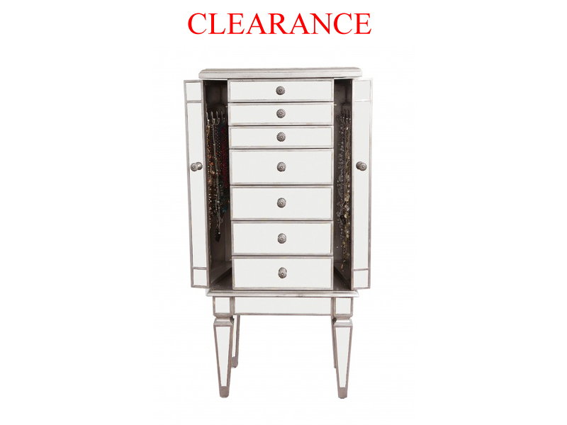 Clearance Mirrored Jewellery Chest