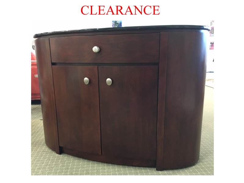 Sideboard With Granite Oval Top On Clearance