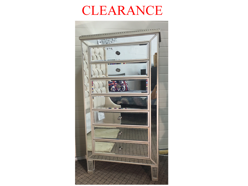Clearance 7 Drawer Mirrored Chest