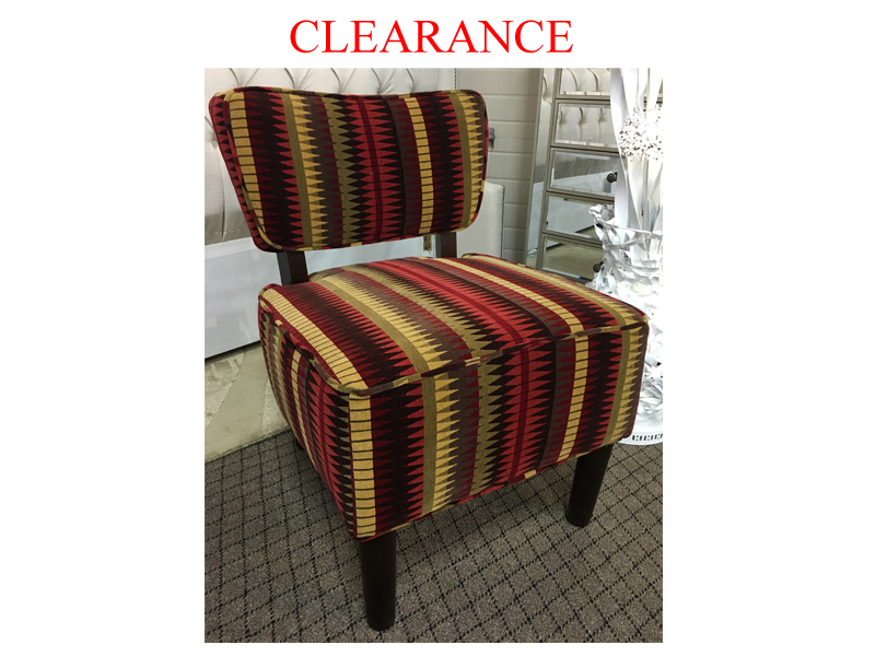 Clearance Accent Chair With 2 Toss Cushions