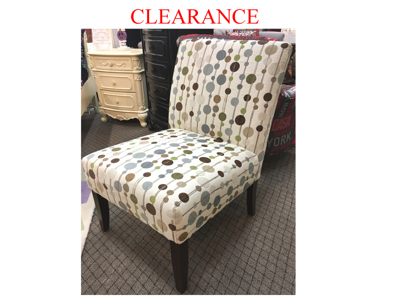 Clearance Accent Chair With Two Toss Cushions