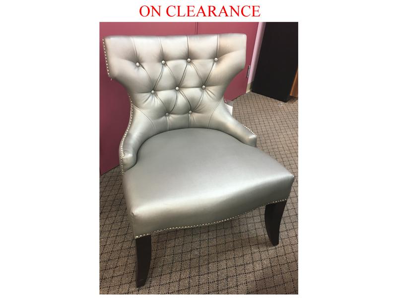 Clearance Tufted Accent Chair Fabric Accent Chairs