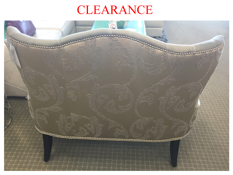 Clearance Canadian Made Settee Custom Made Fabric Accent Chairs Accent Chairs Living Room