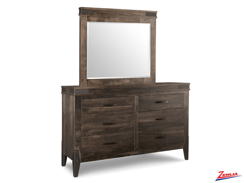 Chatt 6 Drawer Dresser & Mirror