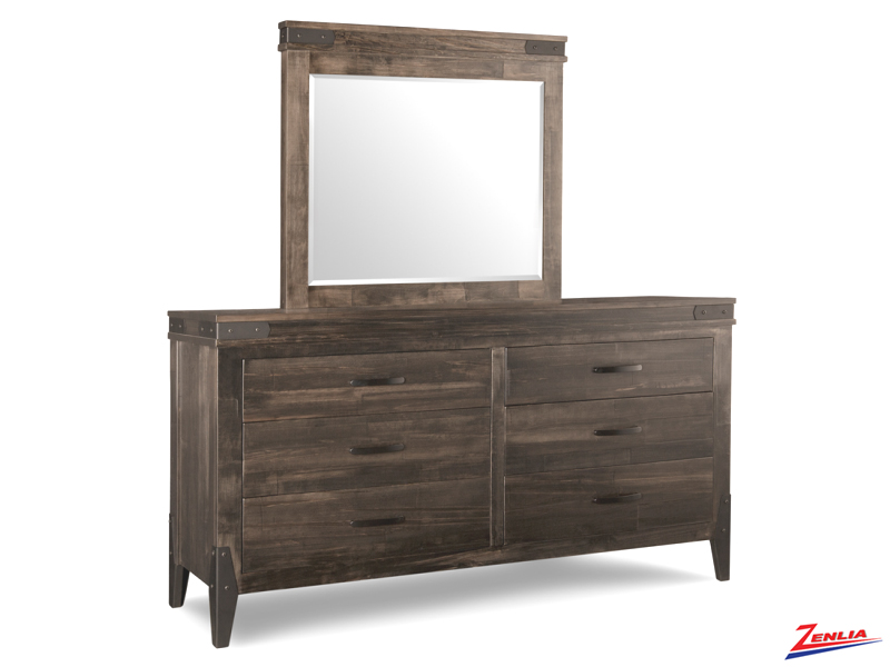 Chatt 6 Drawer Long Dresser & Mirror