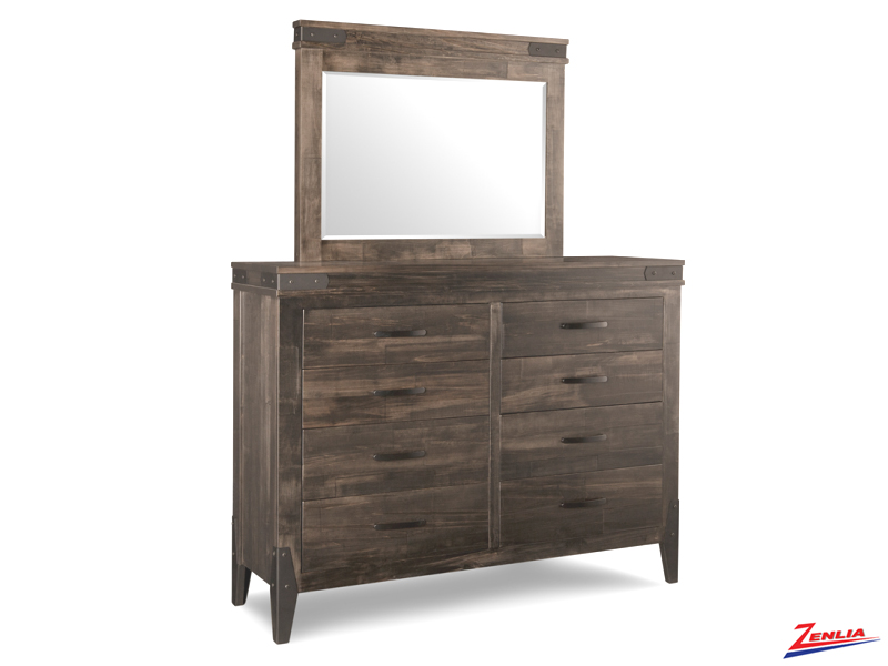 Chatt 8 Drawer High Dresser And Mirror
