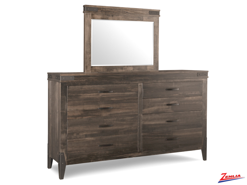 Chatt 8 Drawer Long High Dresser & Mirror