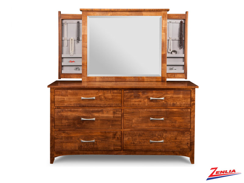 Glengar 6 Drawer Dresser & Mirror
