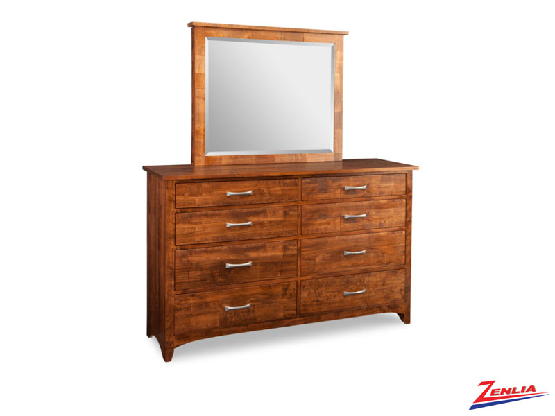 Glengar 8 Drawer High Dresser And Mirror