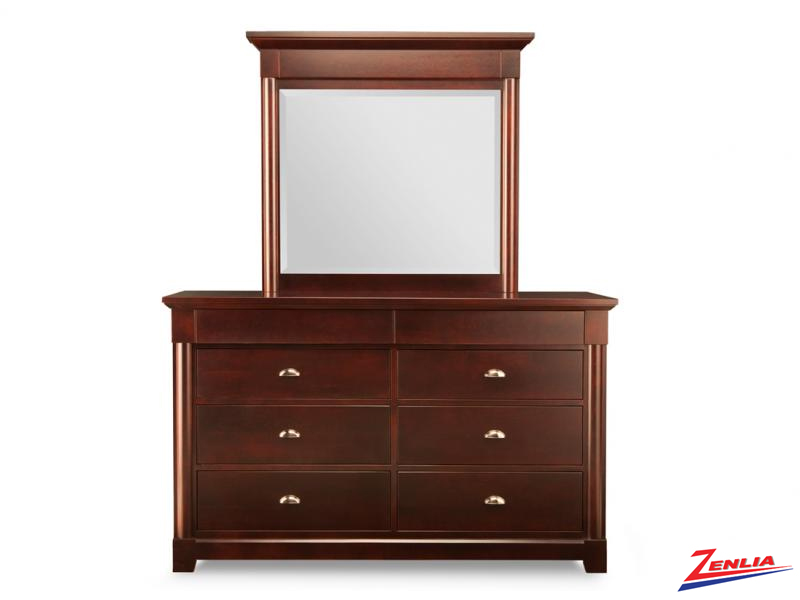 Hud 8 Drawer Dresser & Mirror