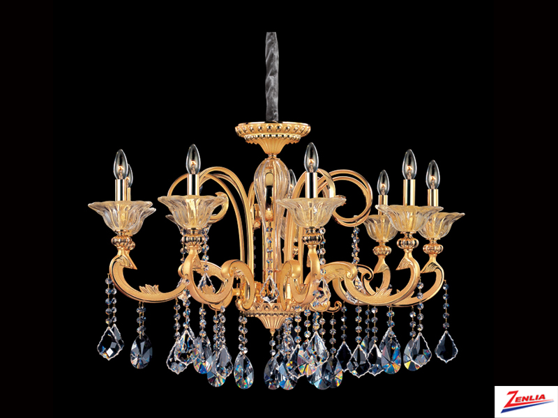 Legre 9 Light Chandelier With Antique Silver Leaf
